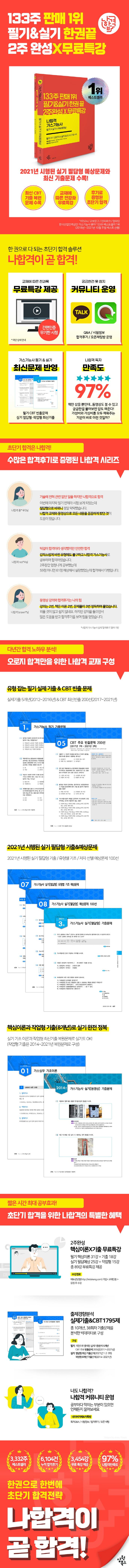 가스기능사 필기+ 실기+ 무료동영상(2021)(나합격)(4판) 도서 상세이미지