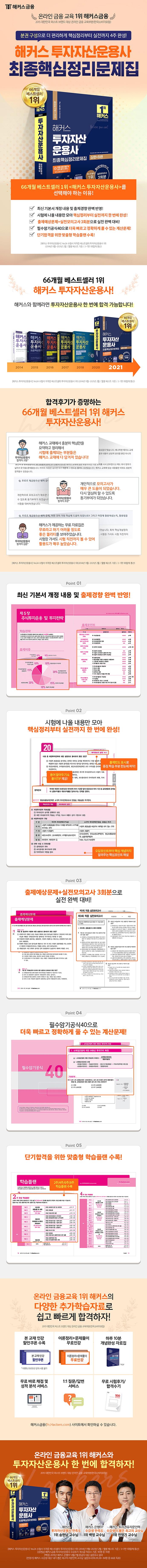 투자자산운용사 최종핵심정리문제집(2021)(해커스) 도서 상세이미지