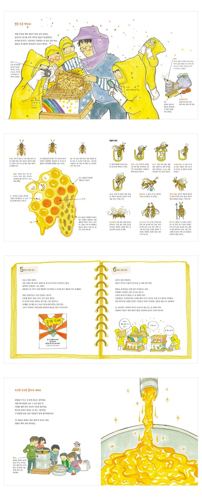 우리는 꿀벌과 함께 자라요(웃는돌고래 그림책 12)(양장본 HardCover) 도서 상세이미지