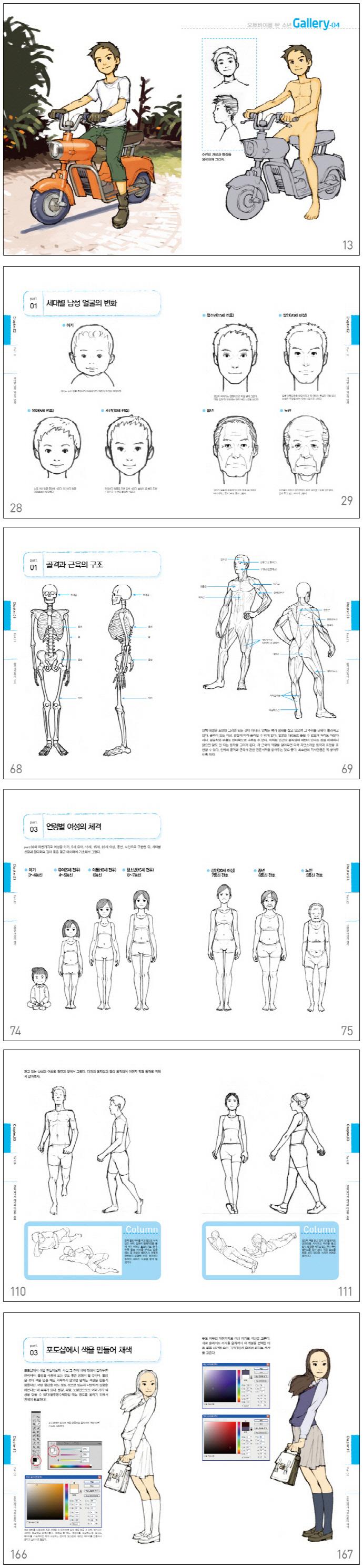 인물 기본데생(만화의 기본 시리즈 3) 도서 상세이미지