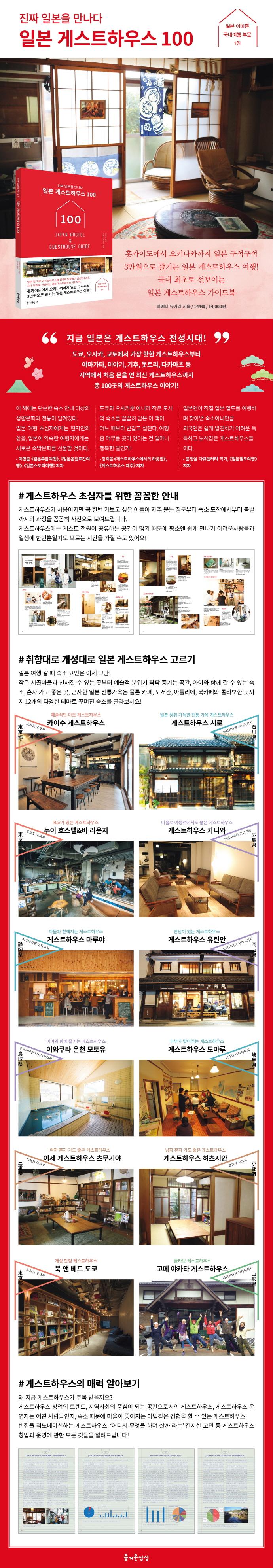 일본 게스트하우스 100 도서 상세이미지