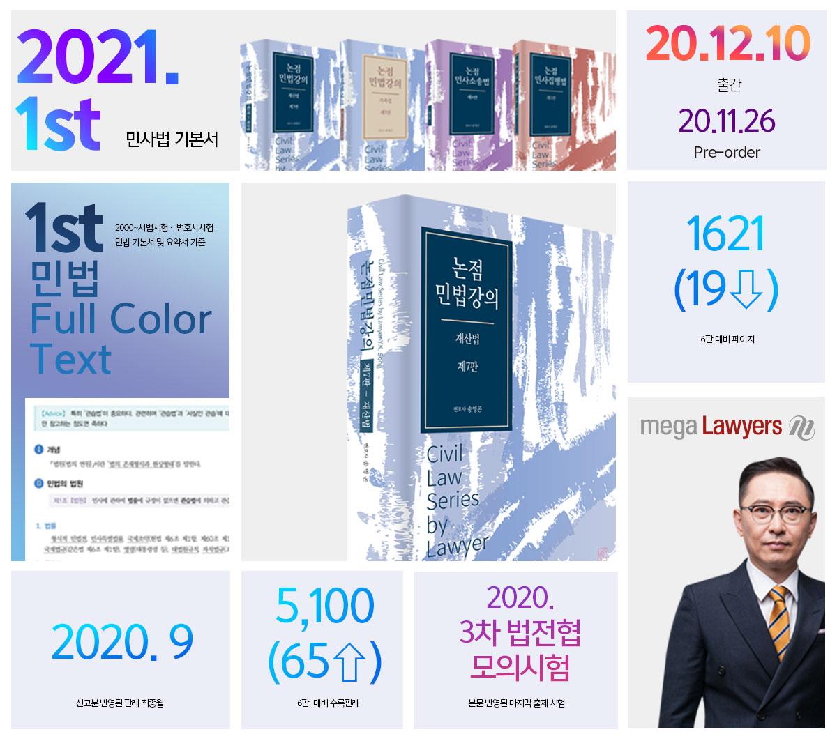 논점민법강의: 재산법(7판)(양장본 HardCover) 도서 상세이미지
