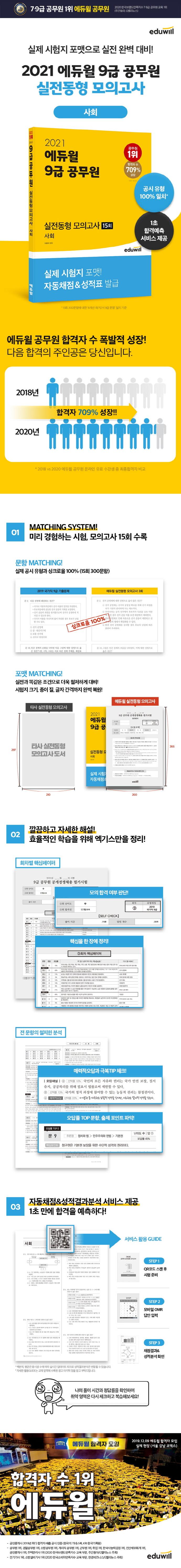 사회 실전동형모의고사 15회(9급 공무원)(2021)(에듀윌) 도서 상세이미지