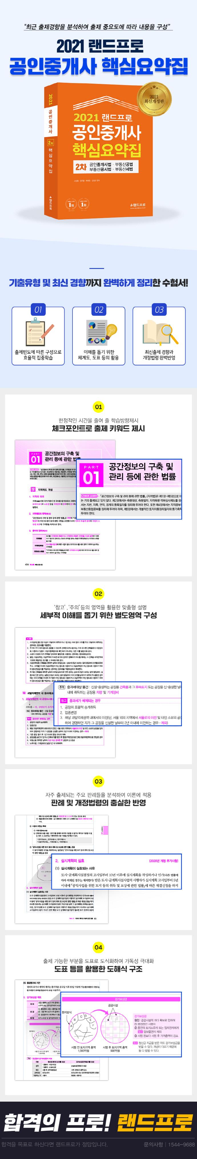 공인중개사 2차 핵심요약집(2021)(랜드프로) 도서 상세이미지