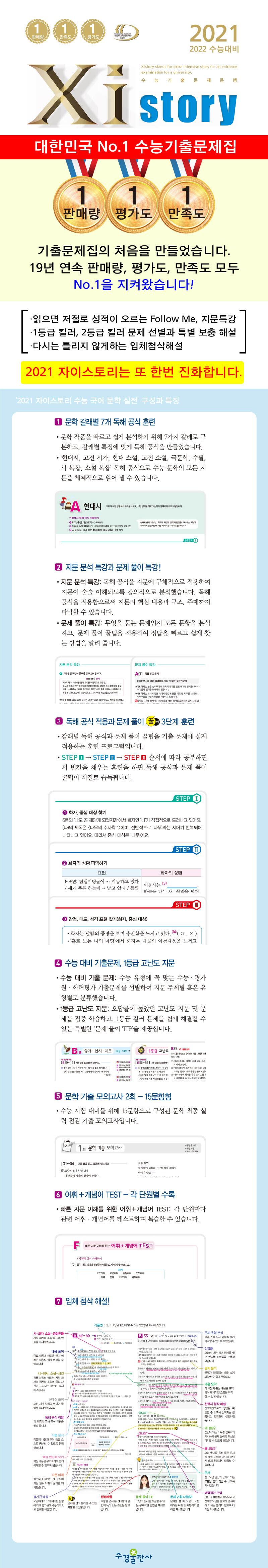고등 국어 문학 실전 수능 기출 문제집(2021)(2022 수능대비)(자이스토리) 도서 상세이미지