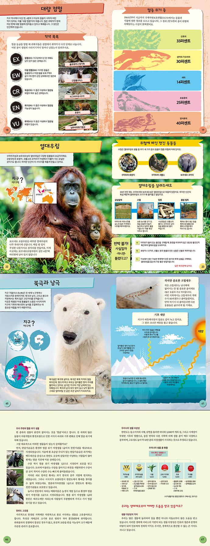 위험에 처한 멸종 위기 동물(행동하는 어린이 3)(양장본 HardCover) 도서 상세이미지