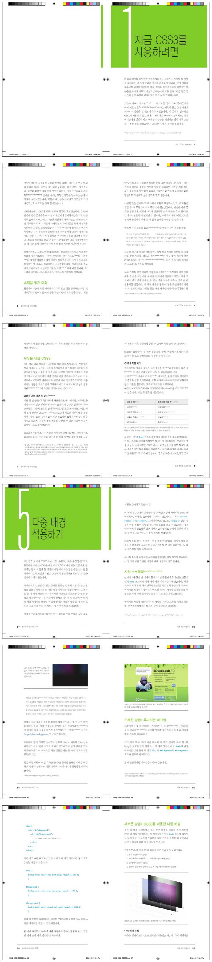 웹디자이너를 위한 CSS3(아름다운 웹사이트 만들기 시리즈 2) 도서 상세이미지