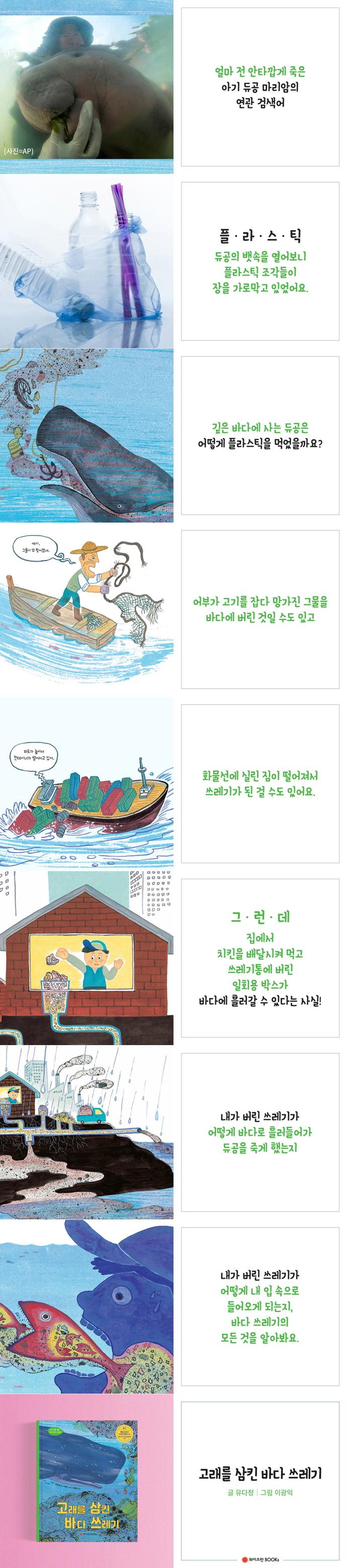 고래를 삼킨 바다 쓰레기(와이즈만 환경과학 그림책 14)(양장본 HardCover) 도서 상세이미지