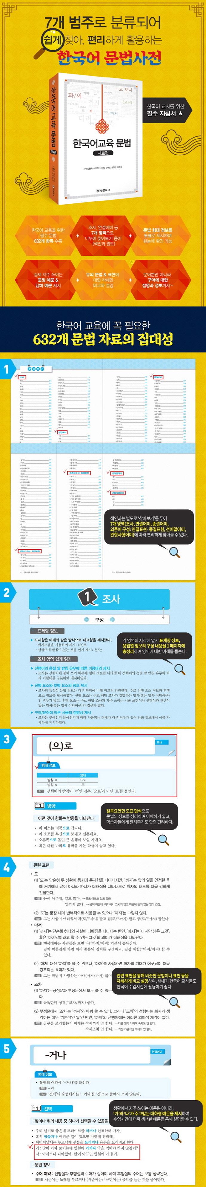 한국어교육 문법: 자료편(양장본 HardCover) 도서 상세이미지
