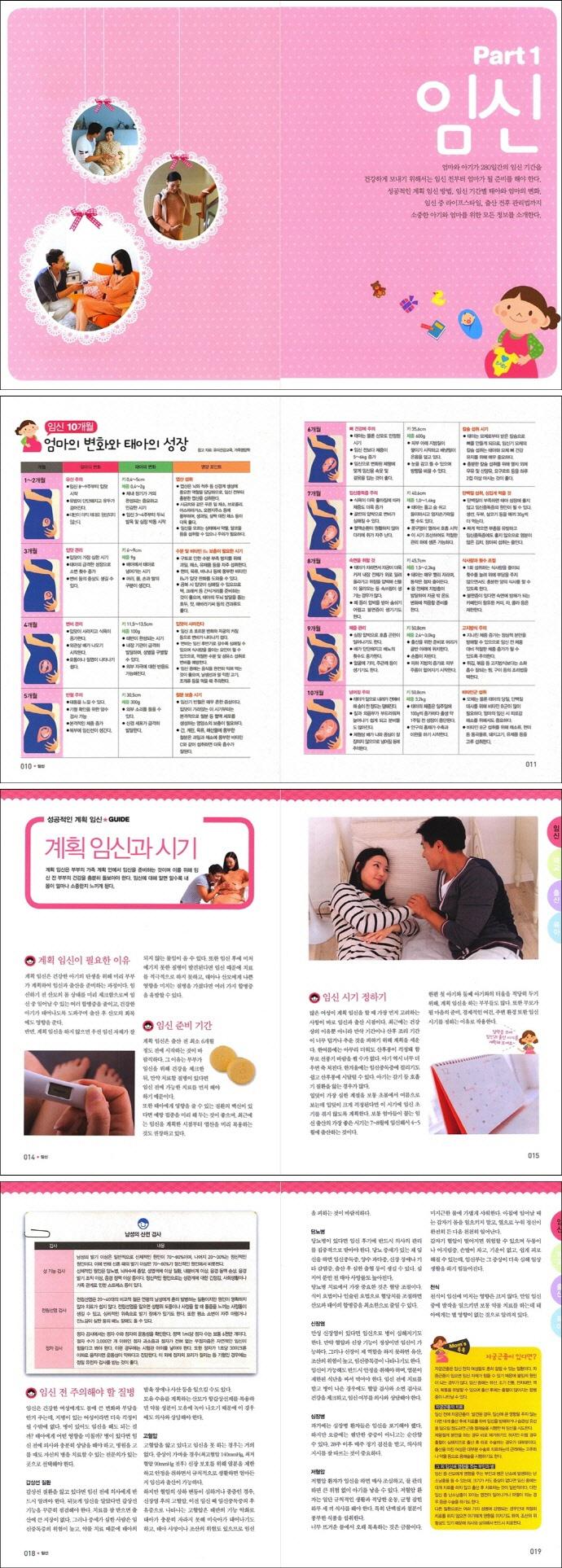 임신 태교 출산 육아 대백과(초보 엄마 아빠가 함께 보는) 도서 상세이미지