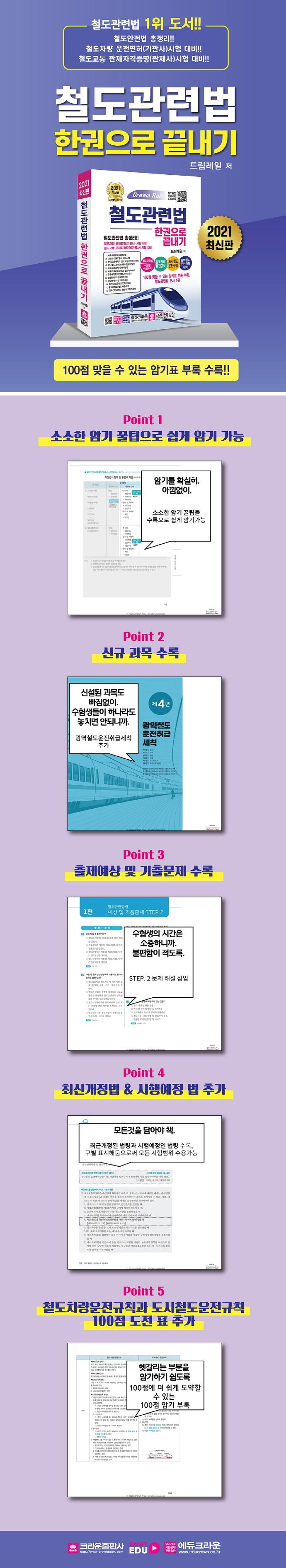 철도관련법 한권으로 끝내기(2021) 도서 상세이미지