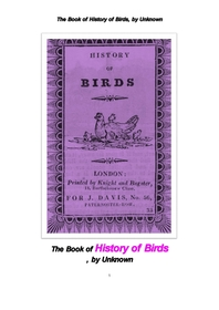새들의 이야기 역사.The Book of History of Birds, by Unknown