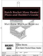 Batch Rocket Mass Heater Plans and Builder's Guide