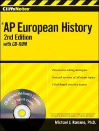 CliffsNotes AP European History : with CD-ROM