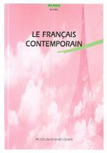 LE FRANCAIS CONTEMPORAIN