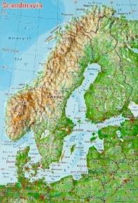 미니 입체지도 스칸디나비아