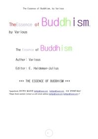 불교의 요점.The Essence of Buddhism, by Various