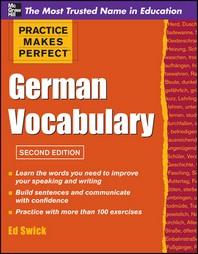 Pmp German Vocabulary 2e