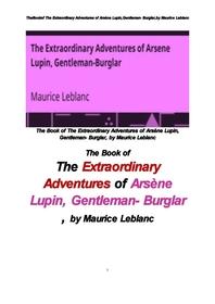 괴도신사 아르센 뤼팽의 특이한 모험,모리스 르블랑의 . The Book of The Extraordinary Adventures of Ars