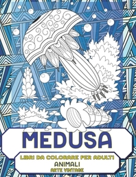 Libri da colorare per adulti - Arte vintage - Animali - Medusa