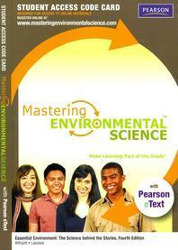 Masteringenvironmentalscience with Pearson Etext -- Standalone Access Card -- For Essential Environment