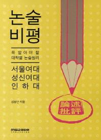 논술비평: 서울여대 성신여대 인하대