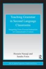 Teaching Grammar in Second Language Classrooms