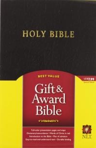 Holy Bible : New Living Translation, Gift & Award Bible, Black, Imitation Leather