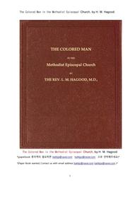 메서디스트 감독 교회에서 흑인.The Colored Man in the Methodist Episcopal Church, by H. M. Hagood