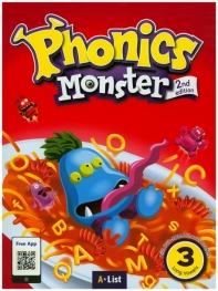 Phonics Monster. 3: Long Vowels(Student Book)(with Readers&App)