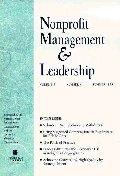 Nonprofit Management & Leadership, No. 4, Fall 1999