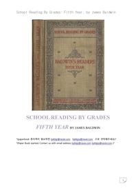 미국 5학년 리딩책.School Reading By Grades: Fifth Year, by James Baldwin