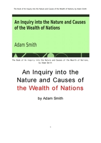 아담 스미스의 국부론.The Book of An Inquiry into the Nature and Causes of the Wealth of Nations, by