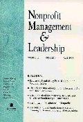 Nonprofit Management & Leadership, No. 1, Winter 2000