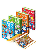 [로이북스] 로보카 폴리 꿀잼 스티커북 (1~5권)(탈것/동물/건강/안전/공룡)