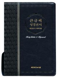 큰글씨 성경전서(블루블랙)(NKR73EBU)(개역개정)(새찬송가)(대)(색인)