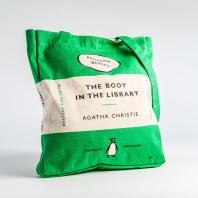 [펭귄] 토트백 Body in the Library (green)