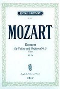 MOZART KONZERT FUR VIOLINE UND ORCHESTER NR.3 G-DUR KV 216
