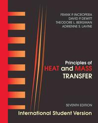 Heat and Mass Transfer, Seventh Edition International Student Version