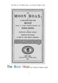 달 착륙 조작.The Book of The Moon Hoax, by Richard Adams Locke