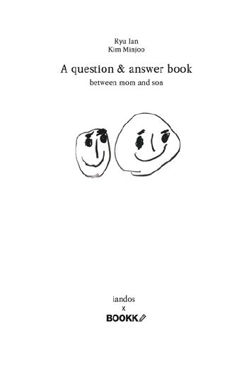 A question & answer book (모자문답집) (컬러판)