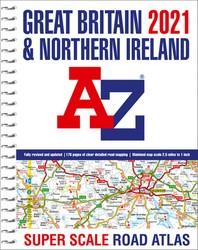 Great Britain A-Z Super Scale Road Atlas 2021 (A3 Spiral)