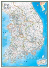 GM대한민국지도(블루)(한글판)(중형)(족자형)