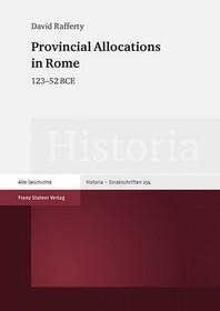 Provincial Allocations in Rome