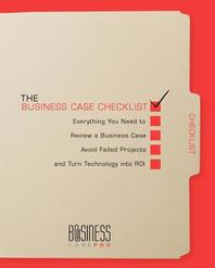 The Business Case Checklist