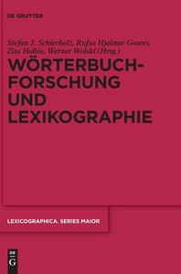 Wrterbuchforschung Und Lexikographie