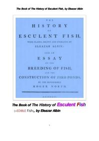 식용 생선의 역사.The Book of The History of Esculent Fish, by Eleazar Albin