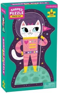 Space Cat 50Piece Shaped Puzzle