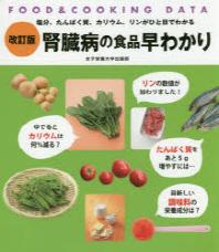 腎臟病の食品早わかり 鹽分,たんぱく質,カリウム,リンがひと目でわかる