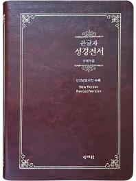 스페셜 단본 성경전서(기획/NKR73ESB/초코/무지퍼)(개역개정/대/색인)